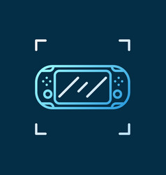 Handheld game console linear concept vector