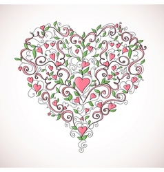 Heart-shaped ornament vector image
