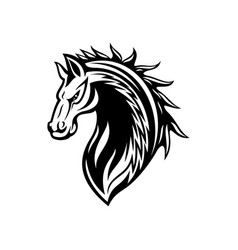 Horse or mustang animal icon tattoo and mascot vector