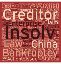 Insolvency and corparate bankruptcy in china text vector