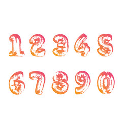 isolated gradient air balloon number font vector image