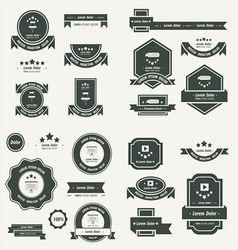 Label And Ribbon template design set black color vector image