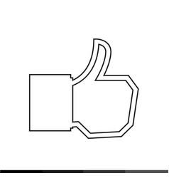 like icon design vector image