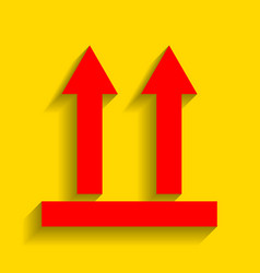 logistic sign of arrows red icon with vector image