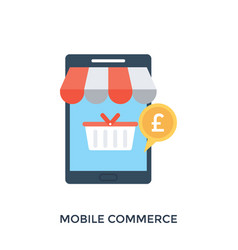M-commerce vector