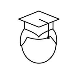 man with graduation cap icon vector image