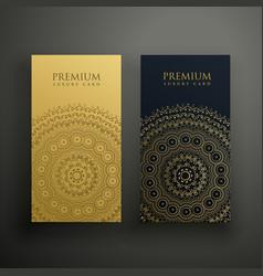 Mandala premium business card design vector