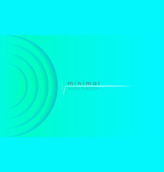 minimal background soft turquoise layers smooth vector image
