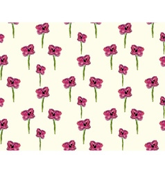 Mosaic flower pattern vector image