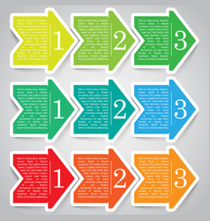 next step arrow boxes vector image