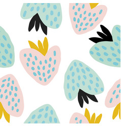 pastel seamless pattern with berries vector image