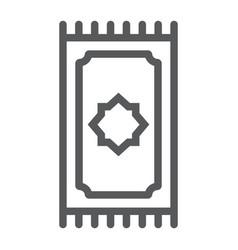 Prayer rug line icon ramadan and islam prayer vector