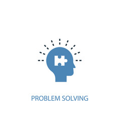 Problem solving concept 2 colored icon simple vector