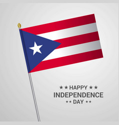 puerto rico independence day typographic design vector image