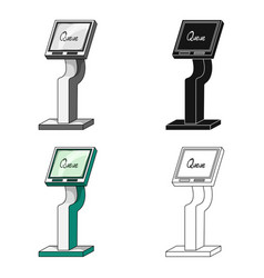queue access terminal terminals single icon in vector image