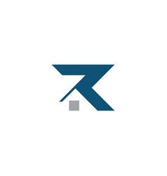 R house logo design template vector
