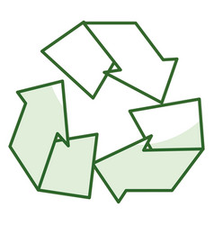 Recycle arrows symbol icon vector