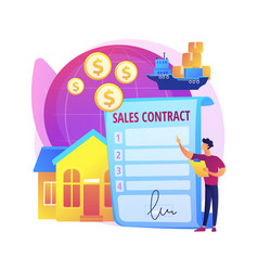 sales contract terms abstract concept vector image