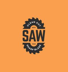 Saw blades logo vector