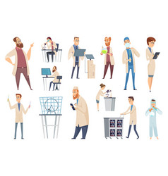 science persons characters doctors lab technician vector image