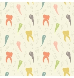 Seamless light colorful teeth pattern vector
