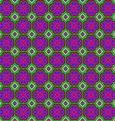 seamless mosaic of geometric ornament with pink vector image