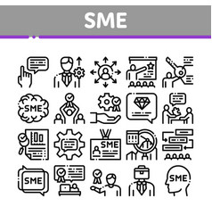 Sme business company collection icons set vector