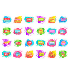 Special offer percents off price labels sale set vector