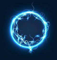 sphere lightning light background vector image