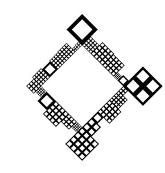 Square frame border - geometrical abstract vector