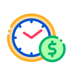 time is money icon outline vector image