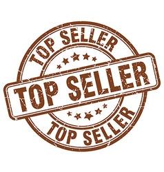 top seller brown grunge round vintage rubber stamp vector image