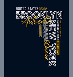 Typography brooklyn sport vector