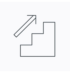 Upstairs icon Direction arrow sign vector image