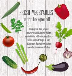 Vegetables icon set vector