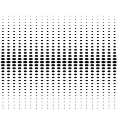 vertical halftone circles on a white background vector image