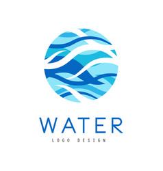 water logo design corporate identity template vector image