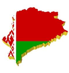 3d map of belarus vector image vector image