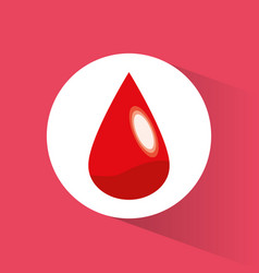 blood drop donate symbol vector image vector image