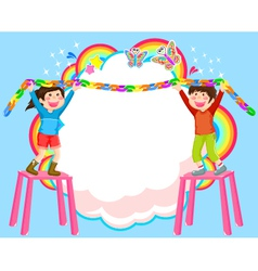 decorating kids vector image vector image