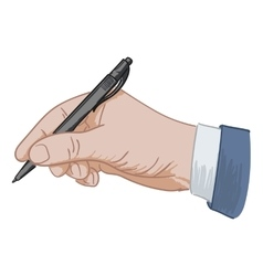 Puts his signature pen vector