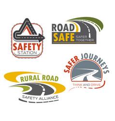 road highway sign for transportation theme design vector image vector image