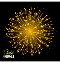 Sparkling texture Stardust sparks in explosion on vector image