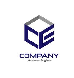 Ce letter business design template logo icon vector