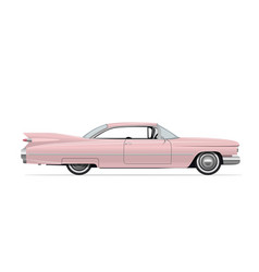 classic american vintage pink car vector image