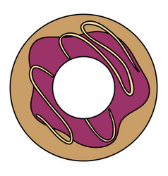 delicious donut isolated icon vector image vector image