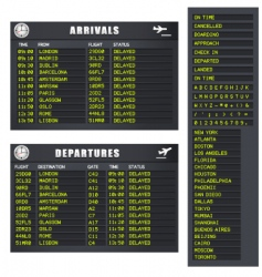 flight information set 1 delayed vector image