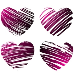 grunge hearts 2 vector image vector image