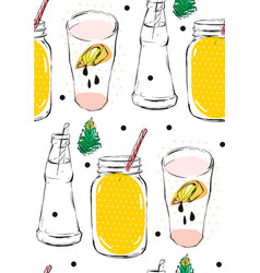 hand drawn abstract creative funny lemonade vector image