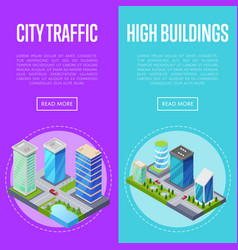 modern city traffic banners set vector image vector image